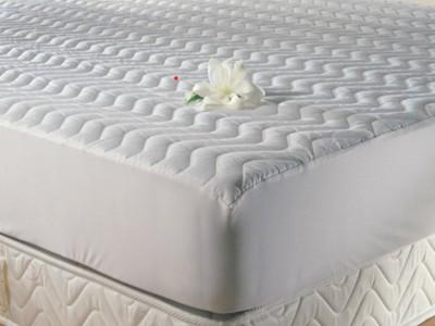 Protectie matlasata cu elastic, TAC, bumbac 100%, 180x200cm, alba