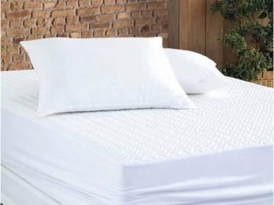 Protectie matlasata impermeabila cu elastic, bumbac 100%, 160x200cm, Altinbasak Alba