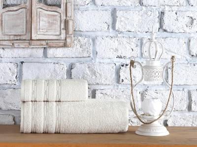 Set 2 prosoape bumbac 100%, 50x90 si 70x140cm, Class Home Collection, Julyan Natural Crem