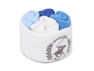 Set 4 prosoape bumbac 100%, BHPC, Wash 6 White Turquoise Blue Dark Blue