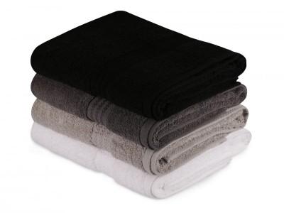 Set 4 prosoape bumbac 100%,Hobby Home, 70x140 cm, Rainbow - Black