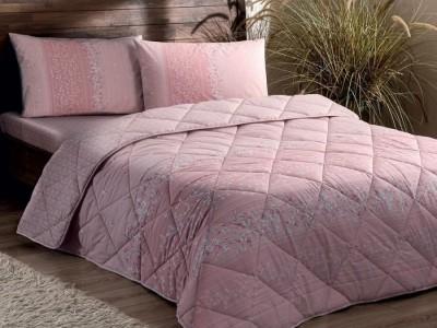 Set dormit TAC, 6 piese, bumbac 100% ranforce, Leona roz