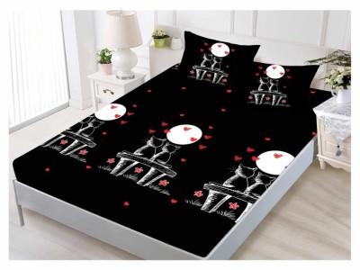 Set husa de pat din finet + 2 fete de perna pentru saltea de 160x200cm HPF128