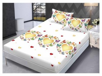 Set husa de pat din finet + 2 fete de perna pentru saltea de 160x200cm HPF140