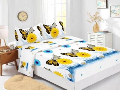 Set husa de pat din finet + 2 fete de perna pentru saltea de 160x200cm HPF310