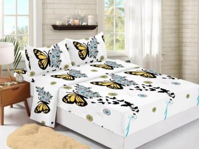 Set husa de pat din finet + 2 fete de perna pentru saltea de 160x200cm HPF313