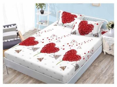 Set husa de pat din finet + 2 fete de perna pentru saltea de 160x200cm HPF58
