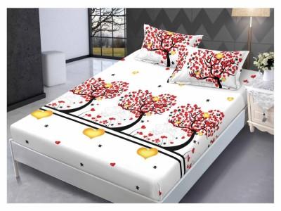 Set husa de pat din finet + 2 fete de perna pentru saltea de 160x200cm HPF64