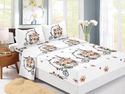 Set husa de pat din finet + 2 fete de perna pentru saltea de 180x200cm HPF326
