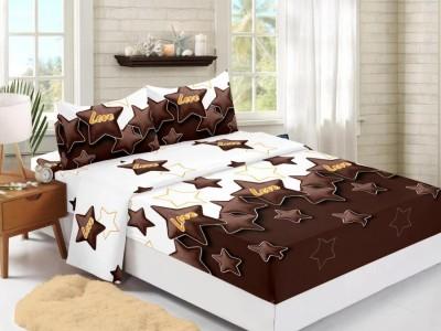 Set husa de pat din finet + 2 fete de perna pentru saltea de 180x200cm HPF334