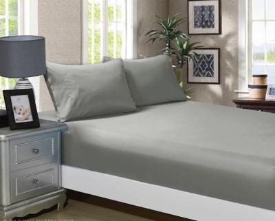 Cearceaf de pat cu elastic si 1 fata perna, bumbac 100%, 120x200cm, Gri, Majoli by Bahar Tekstil