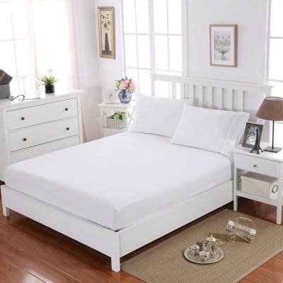 Cearceaf de pat cu elastic+2 fete de perna, bumbac 100%, 160x200cm+30cm, Alb