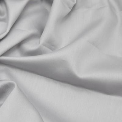 Cearceaf de pat satin cu elastic bumbac 100%, 180x200cm, gri deschis