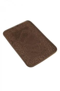 Covoras baie 40x60 cm, Alessia Home, Footprint - Coffee