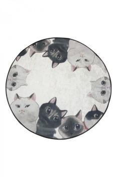 Covoras de baie, Alessia Home, Angry Cats DJT, 100 cm