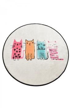 Covoras de baie, Alessia Home, Baby Cats DJT, 100 cm