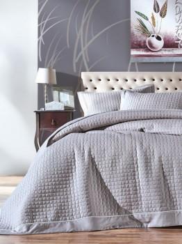 Cuvertura pat matlasata 180x230cm, Cotton Box, Diamond Grey