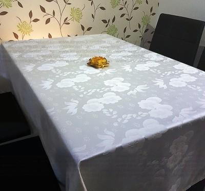 Fata de masa damasc floral satinat 140x220cm
