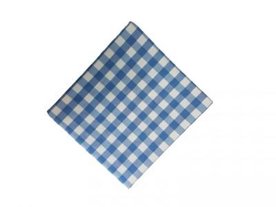 Fata de masa 140x220cm carouri albastru cu alb