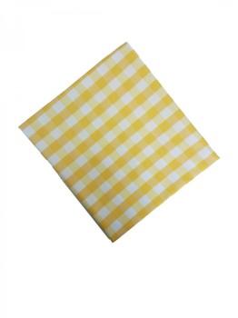 Fata de masa 140x140cm carouri galben cu alb