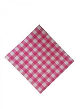 Fata de masa 140x220cm carouri roz cu alb