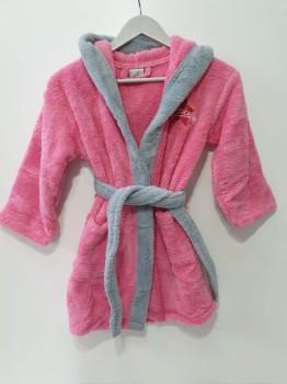 Halat baie copii pufos, cocolino, 8-10 ani, roz