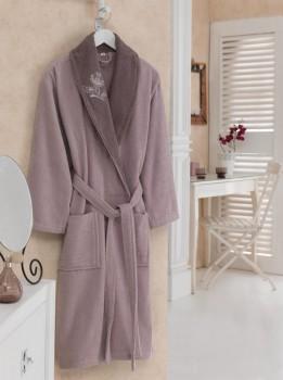 Halat de baie bumbac 100% ,Cotton Box, marime S/M , Violet , cod Violet Purple