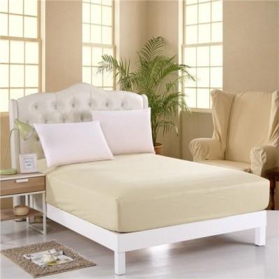 Husa de pat cu elastic 100x200cm crem