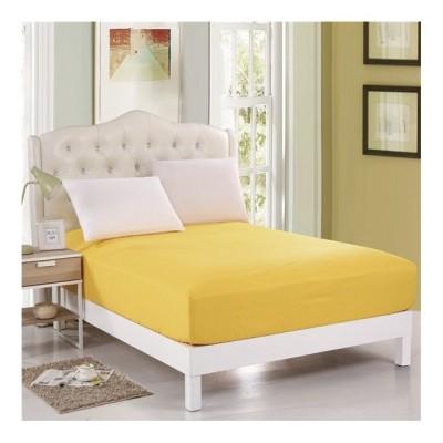 Husa de pat cu elastic 100x200cm galben