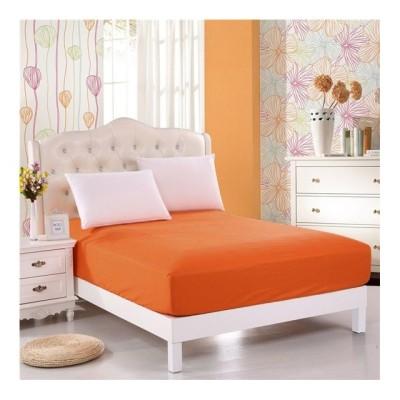 Husa de pat cu elastic 100x200cm portocaliu