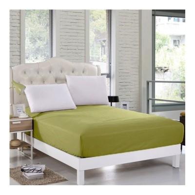 Husa de pat cu elastic 140x200cm verde inchis