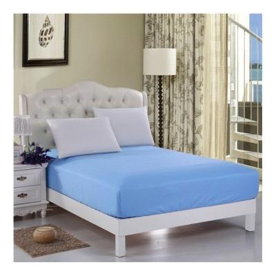 Husa de pat cu elastic 160x200cm albastru