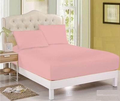 Husa de pat cu elastic 180x200cm roz