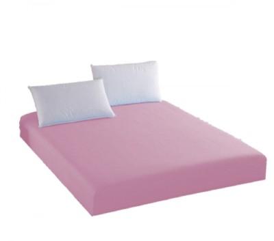 Husa de pat cu elastic + 1 fata de perna Ralex Pucioasa, 100x200cm, 100% bumbac,roz