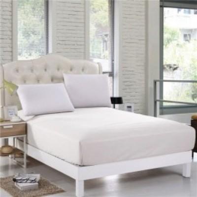 Husa de pat cu elastic ptr hotel 90x200cm alb