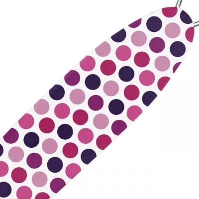 Husa elastica pentru masa de calcat, model cu buline colorate, 50x140 cm