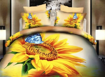 Oferta 1+1gratis: Lenjerie de pat 3D digital print, Ralex Pucioasa, Floarea Soarelui A2