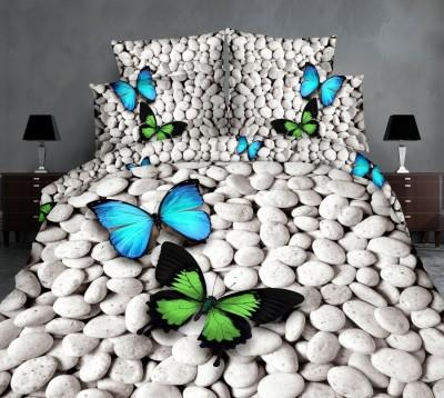 Lenjerie de pat 3D digital print, Ralex Pucioasa, Butterfly on stone