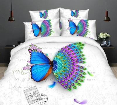 Lenjerie de pat 3D digital print, Ralex Pucioasa, Butterfly peacock