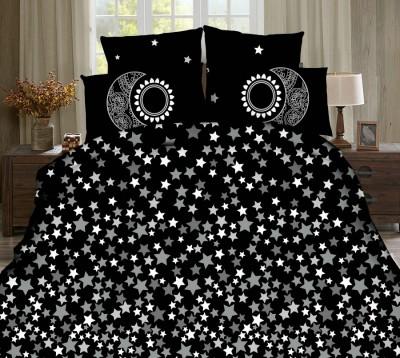 Lenjerie de pat 3D digital print, Ralex Pucioasa, Stars + fata de masa cadou Natur 140x220cm