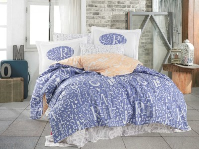 Lenjerie de pat bumbac 100% poplin, Hobby Home, Dream - Lilac