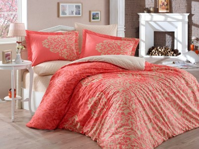 Lenjerie de pat bumbac 100% poplin, Hobby Home, Serenity - Red