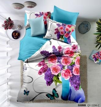 Lenjerie de pat bumbac 100% poplin satinat 3D , Ralex Pucioasa, Flower Vase