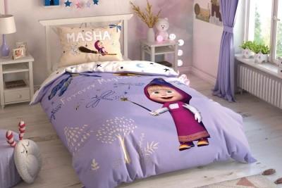 Lenjerie de pat copii, bumbac 100%, TAC Disney 3 piese, Masha