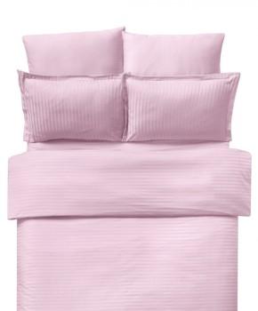 Lenjerie de pat damasc 1 persoana culoarea roz pudra