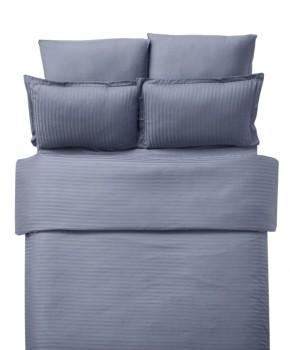 Lenjerie de pat damasc cu 6 piese culoarea antracit