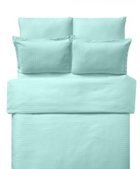 Lenjerie de pat damasc cu 6 piese culoarea mint