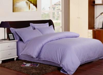 Lenjerie de pat damasc cu elastic ptr saltea de 140cm - mov