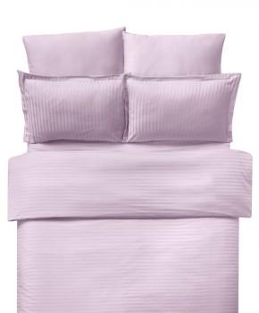 Lenjerie de pat damasc cu elastic ptr saltea de 140cm - roz