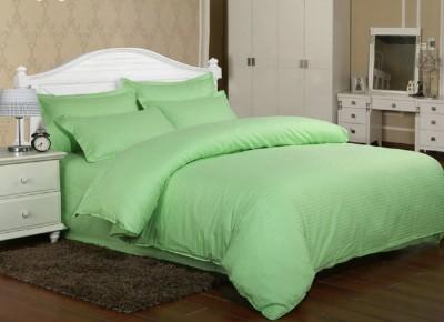 Lenjerie de pat damasc cu elastic ptr saltea de 140cm - verde